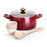 Paula Deen Signature Porcelain Nonstick 6-Piece Cookware Soup and Stew Set