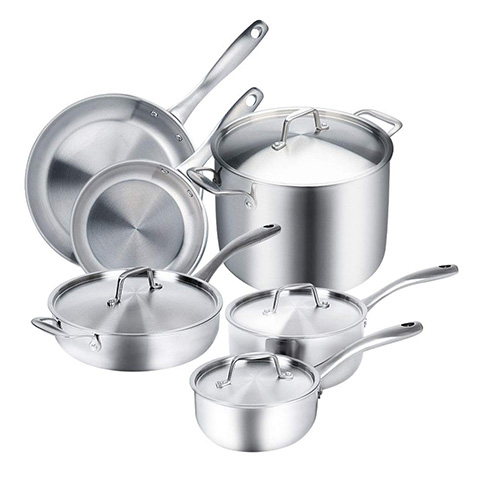 10 Best Stainless Steel Cookware Sets Reviews 2019
