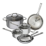 'Emeril Lagasse Tri-Ply Stainless Steel' from the web at 'http://www.allcookwarefind.com/images/stainless-steel/emeril-lagasse-tri-ply-stainless-steel-160.jpg'